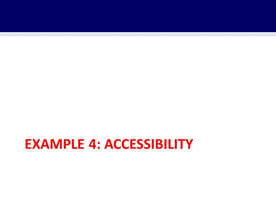EXAMPLE 4: ACCESSIBILITY