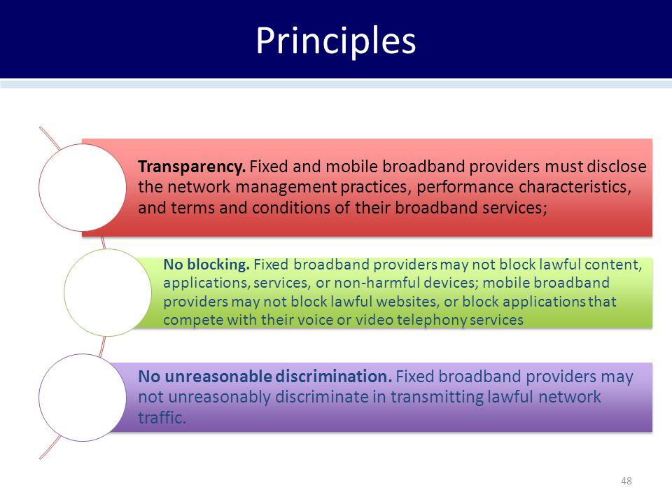 Principles Transparency.