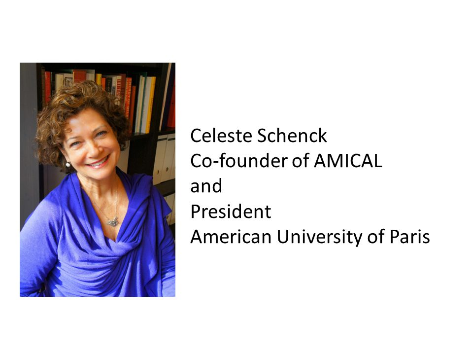 Celeste Schenck Co-founder of AMICAL and President American University of Paris