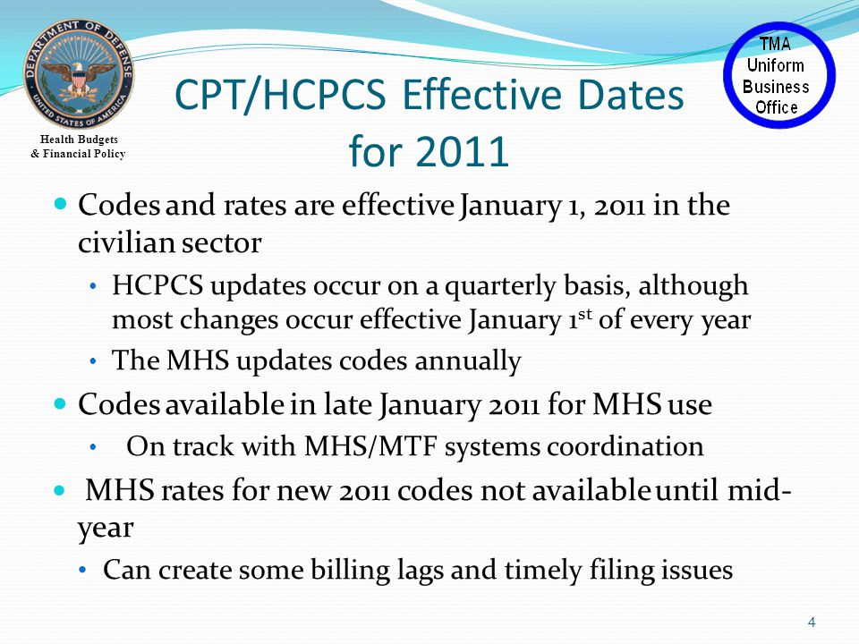 Health Budgets & Financial Policy 25 31 added, 4 new clinical conditions, 6 revised Codes end with F Category II CPT codes are supplemental tracking codes used to measure performance.