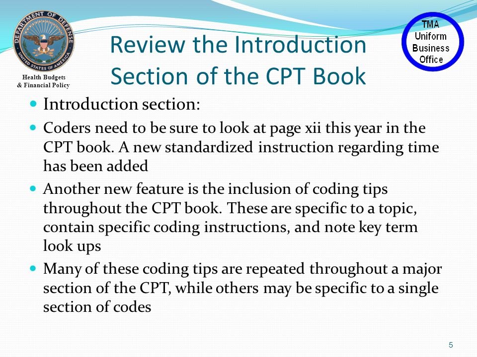 Health Budgets & Financial Policy Category III Codes 52 added, 12 deleted, majority of deletes converted to Category I codes Codes end with T This section of CPT codes contains a temporary set of codes for emerging technologies, services, and procedures Intended to be used to substantiate widespread usage or to provide documentation for the Food and Drug Administration (FDA) approval process There are no rates associated with these codes 26