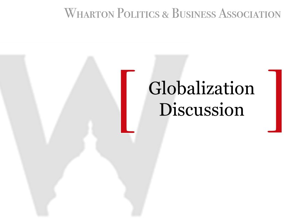 Globalization Discussion