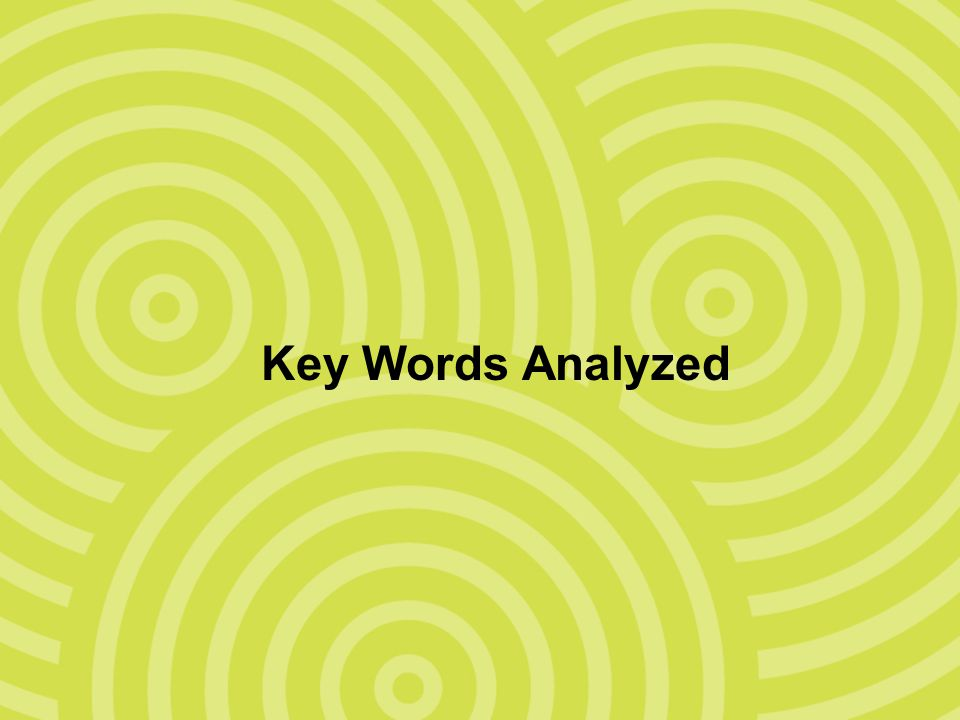 Key Words Analyzed