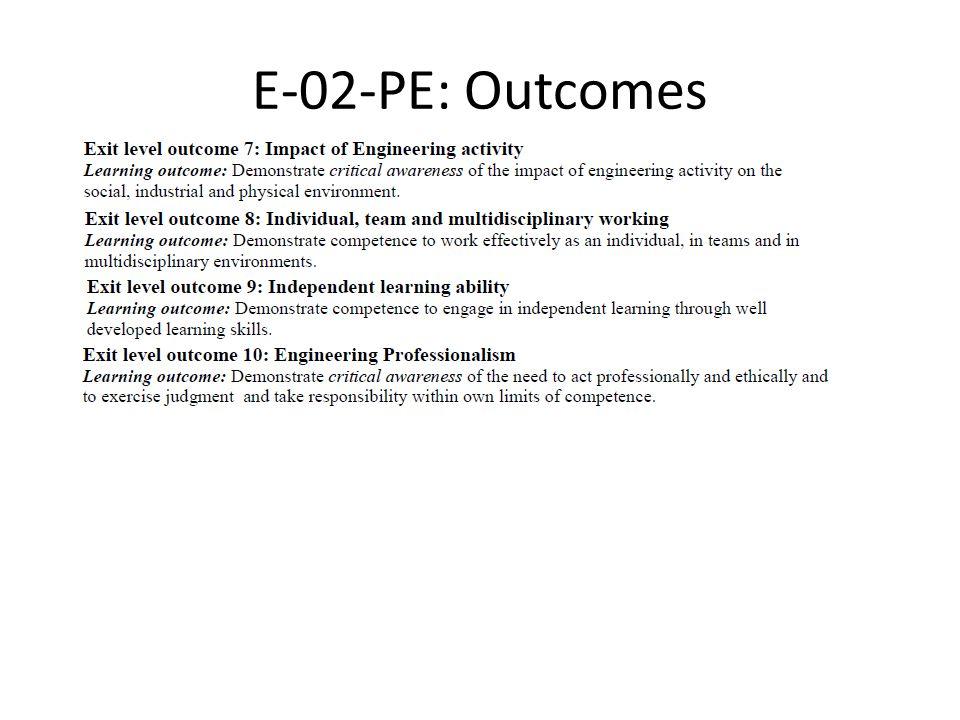 E-02-PE: Outcomes