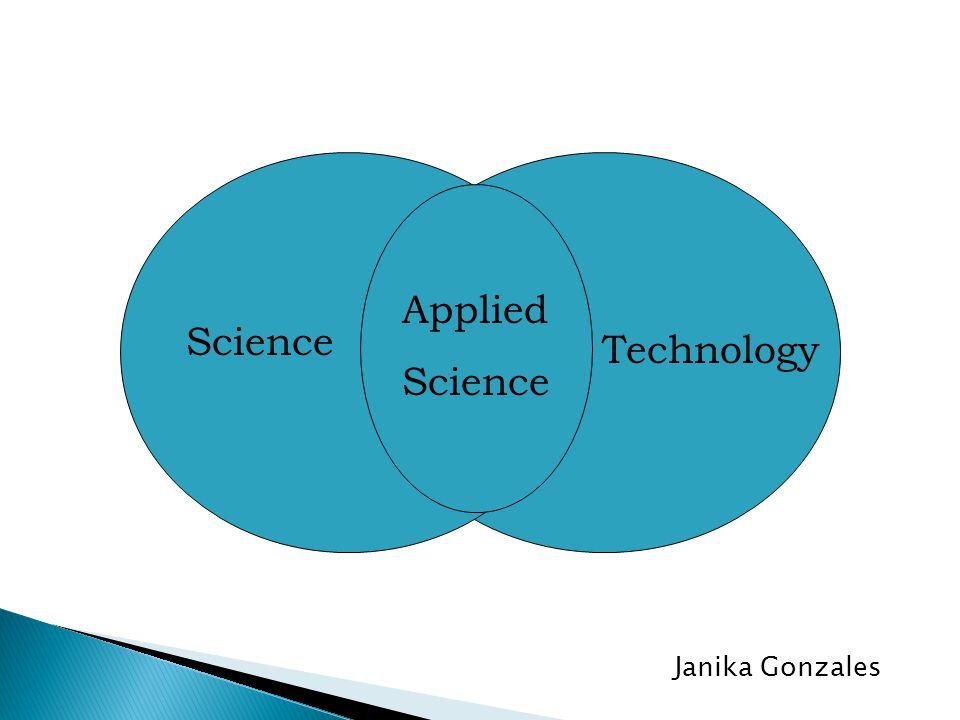 Science Applied Science Technology Janika Gonzales