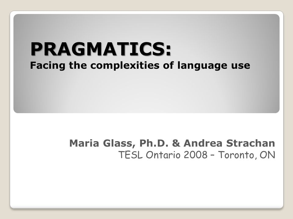 Summary Successful language use is a complex endeavor; it depends on understanding of different contexts settings, social relationships, cultural constraints, etc.