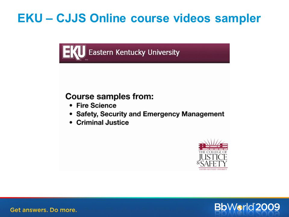EKU – CJJS Online course videos sampler
