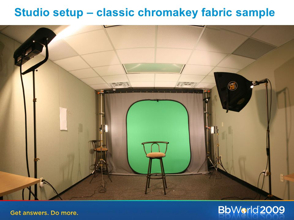Studio setup – classic chromakey fabric sample