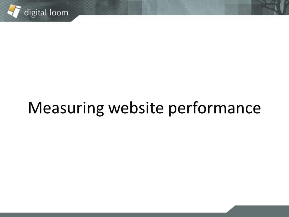 Measuring website performance