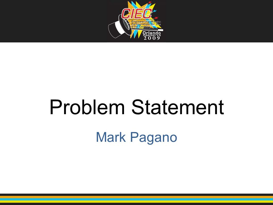 Problem Statement Mark Pagano