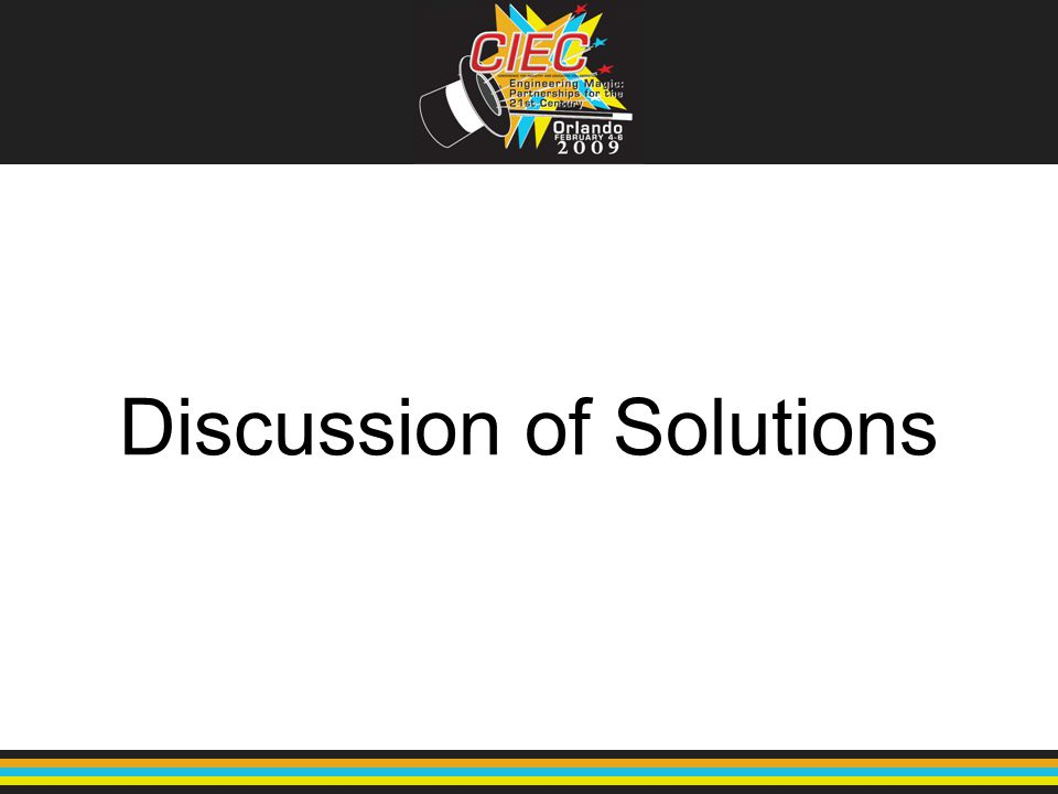 Discussion of Solutions