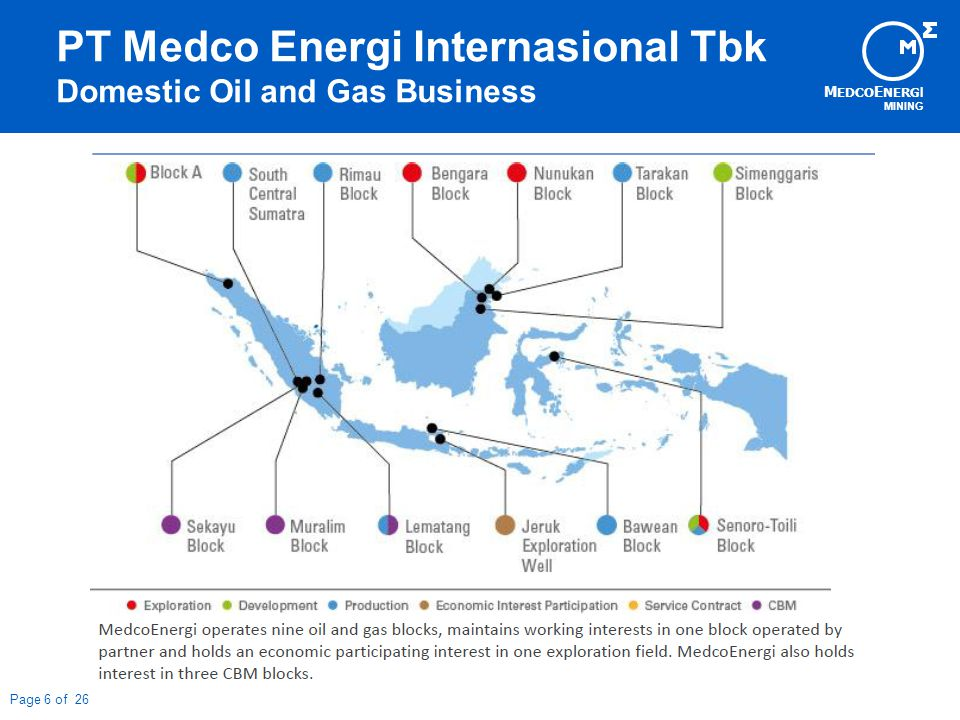 M EDCO E NERG I MINING Page 7 of 26 PT Medco Energi Internasional Tbk International Oil and Gas Business