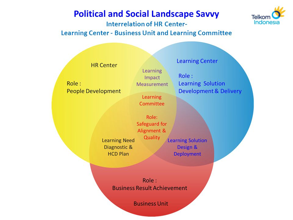 Political and Social Landscape Savvy Interrelation of HR Center- Learning Center - Business Unit and Learning Committee