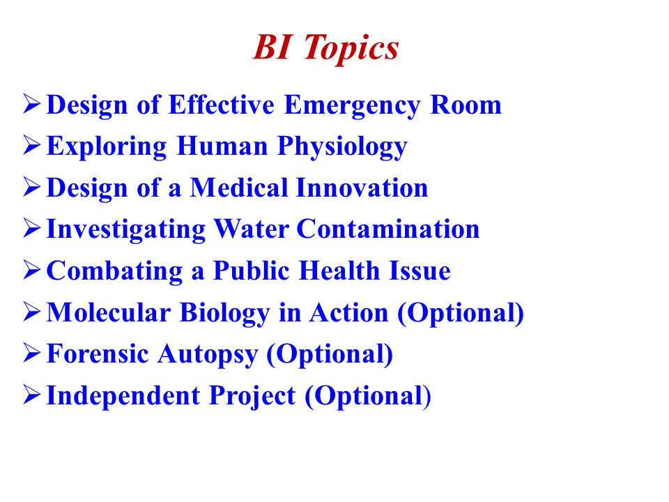 Biomedical Innovation Course Benefits:  Progressively challenging problems  Flexible design  Apply knowledge and skills learned in all previous cou