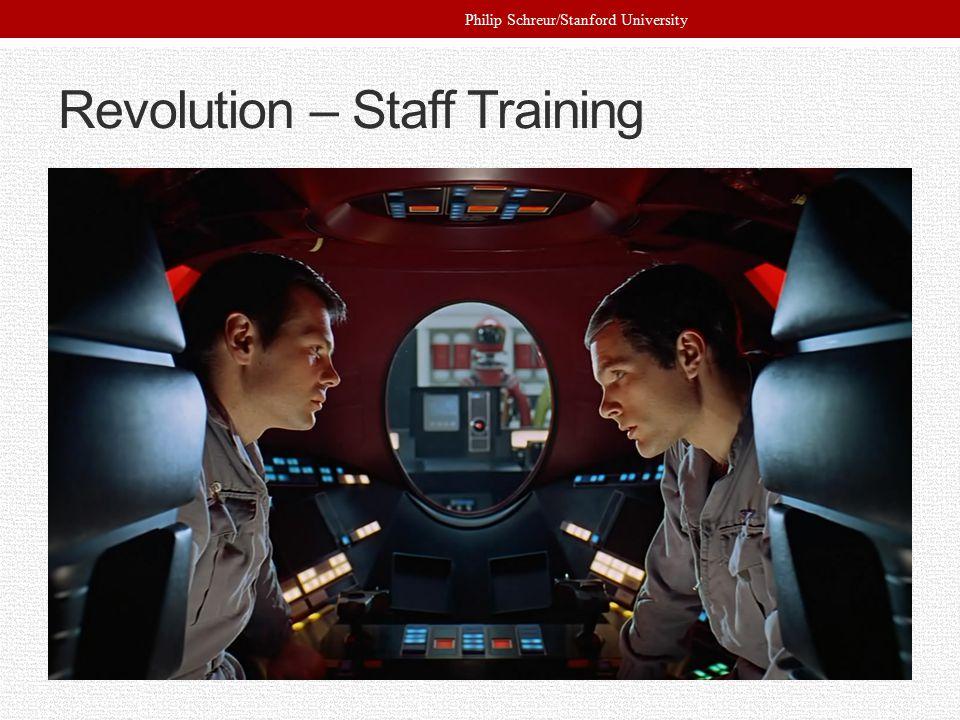 Revolution – Staff Training Philip Schreur/Stanford University