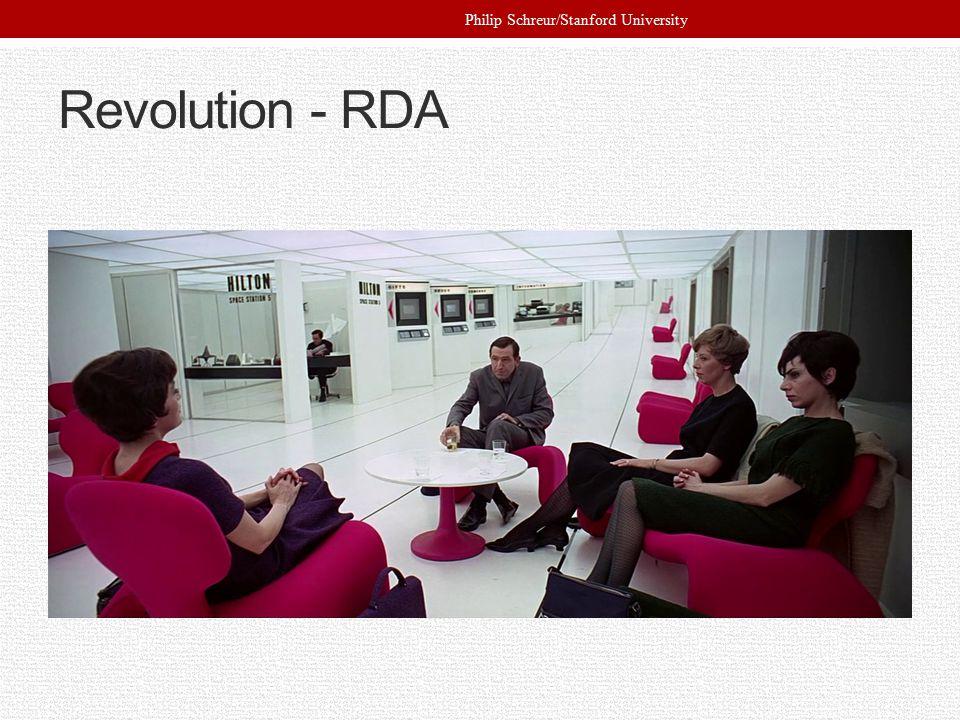 Revolution - RDA Philip Schreur/Stanford University