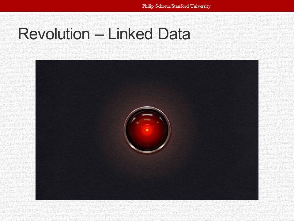 Revolution – Linked Data Philip Schreur/Stanford University