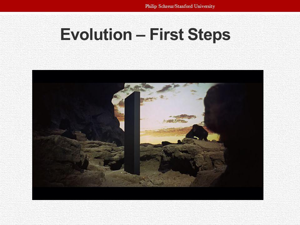 Evolution – First Steps Philip Schreur/Stanford University