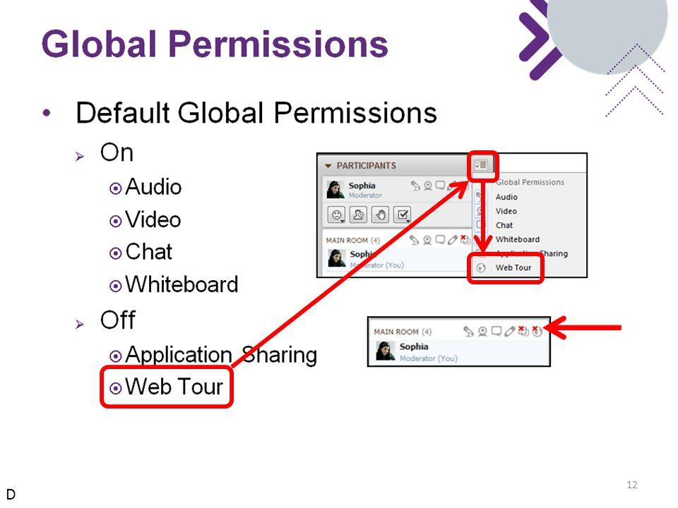 Global Permissions 12 D