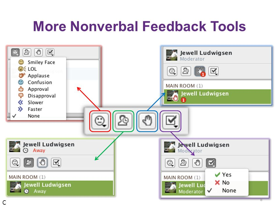 More Nonverbal Feedback Tools 8 C