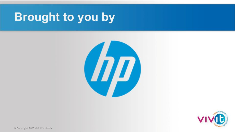 © Copyright 2015 Hewlett-Packard Development Company, L.P.