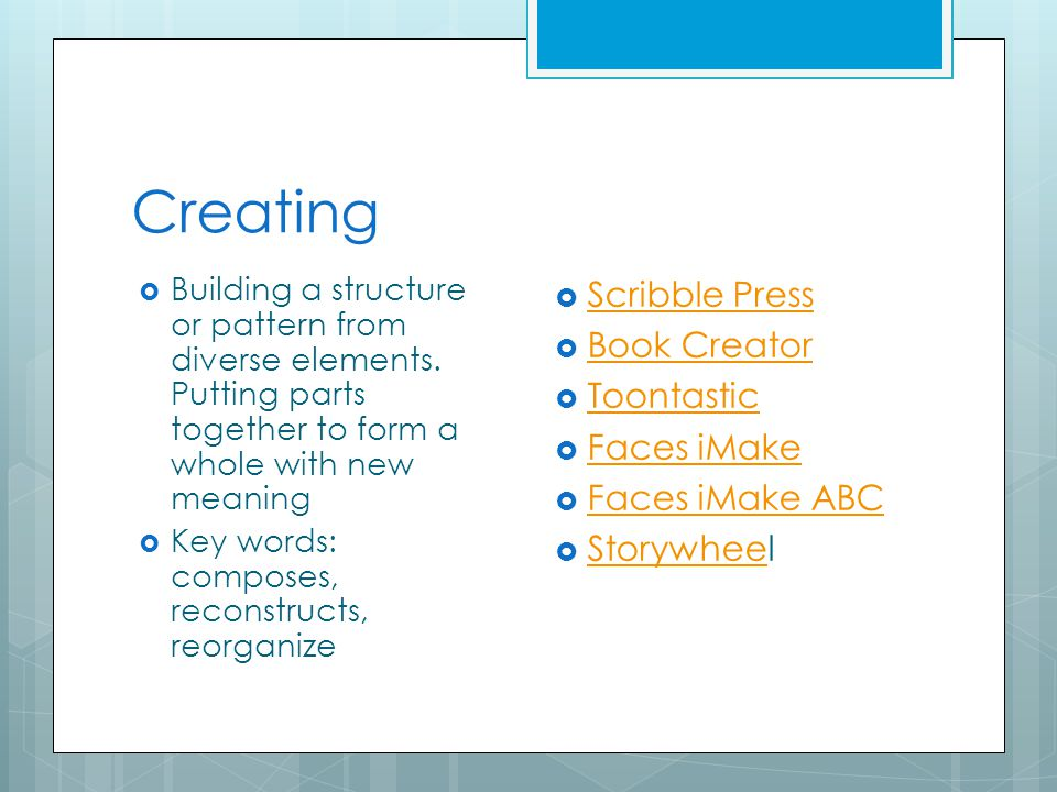 Creating  Building a structure or pattern from diverse elements.