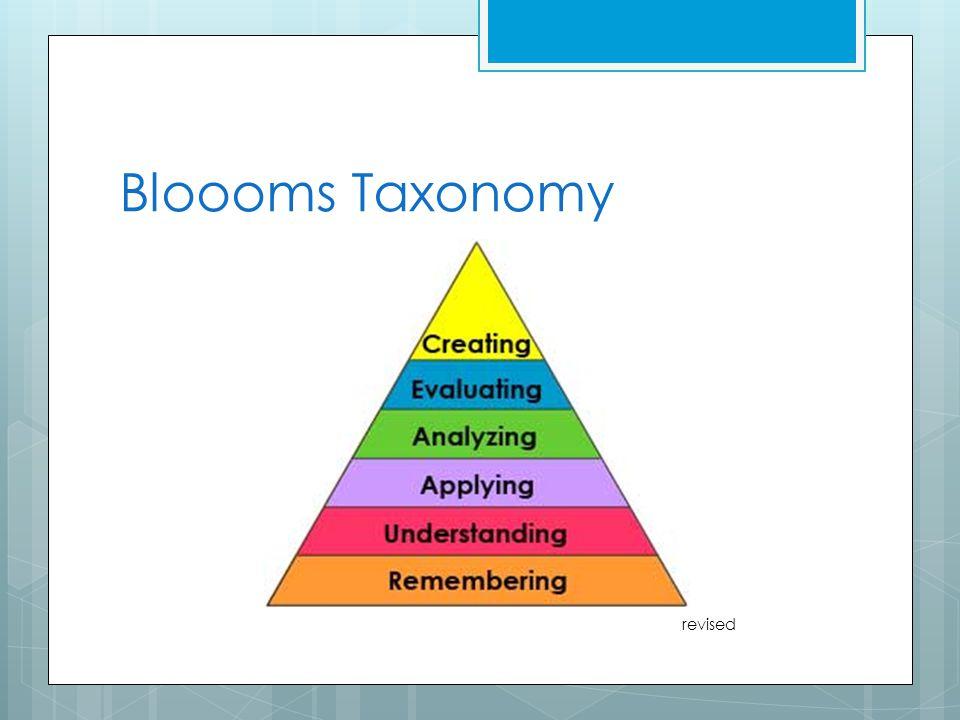 Bloooms Taxonomy revised