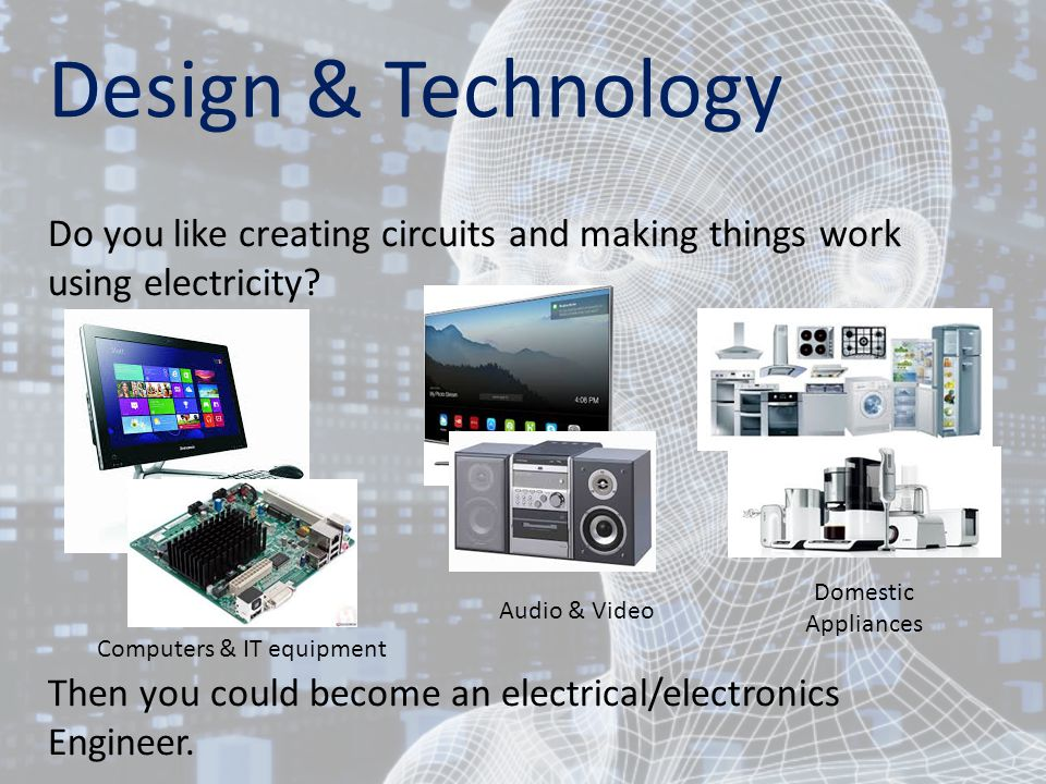 Design & Technology Do you like creating circuits and making things work using electricity.
