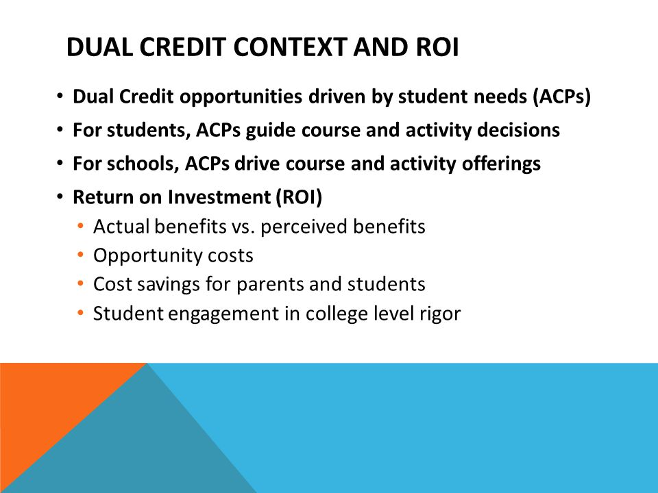 Advanced Standing Transcripted Credit Youth Options Course Options 38.14 Contracts Advanced Placement College Credit in High School DUAL CREDIT OPPORTUNITIES