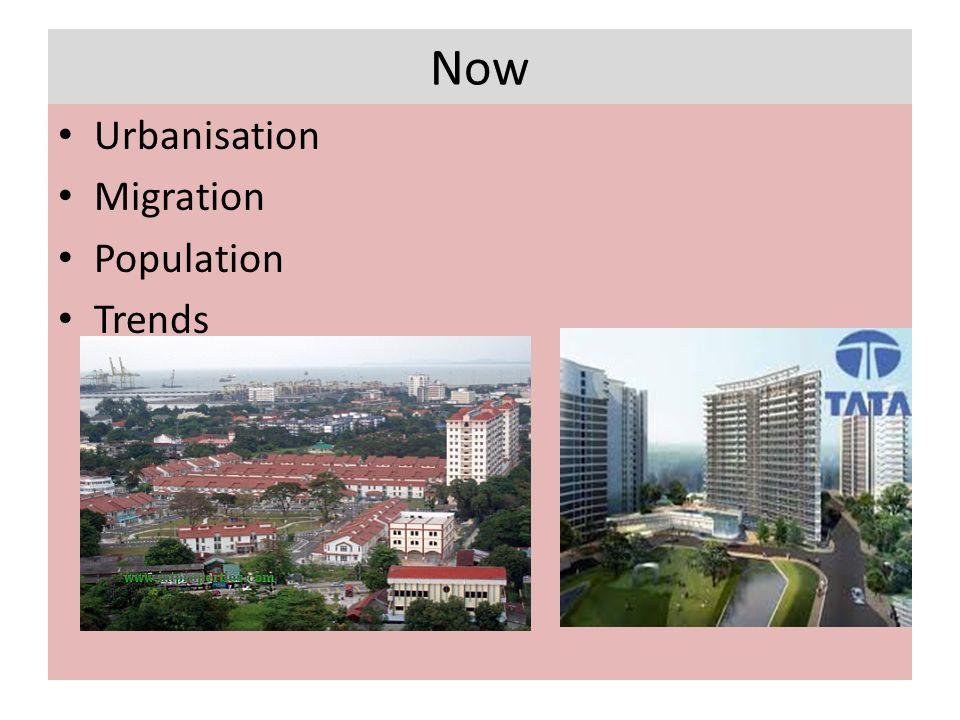 Now Urbanisation Migration Population Trends