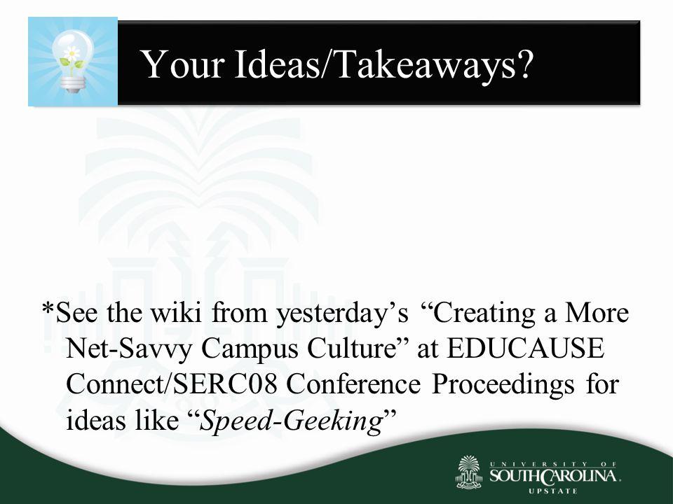 Your Ideas/Takeaways.