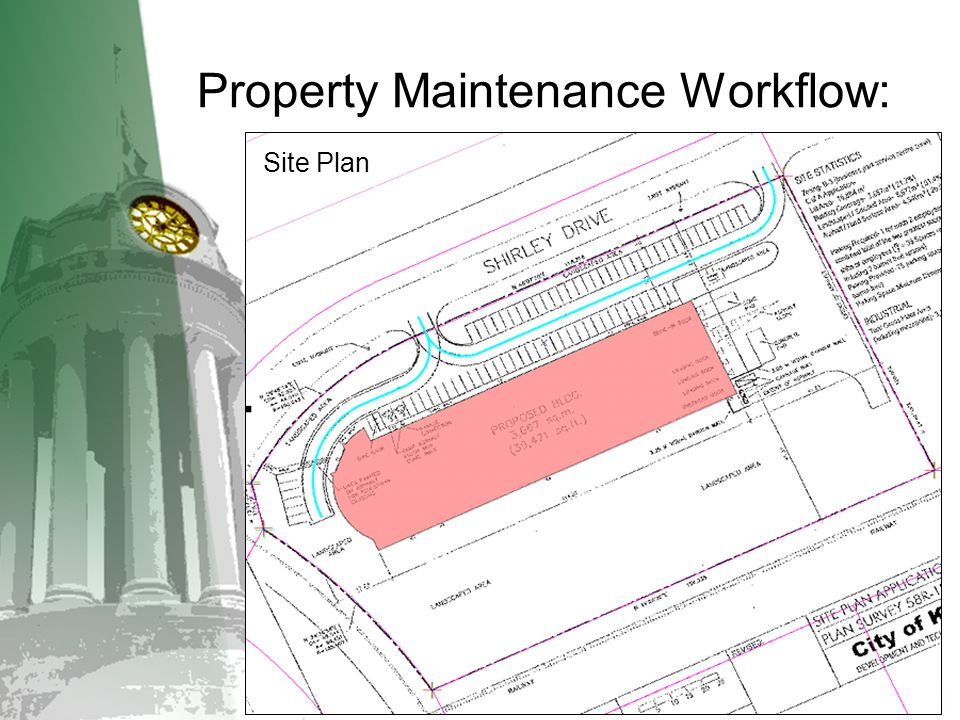 Property Maintenance Workflow: Site Plan