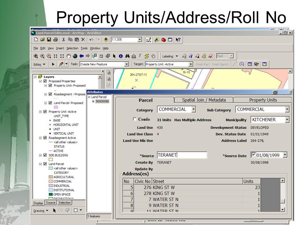 Property Units/Address/Roll No