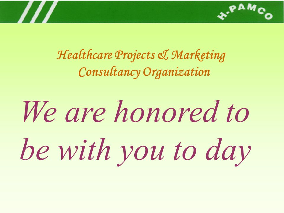 Healthcare Projects & Marketing Consultancy Organization