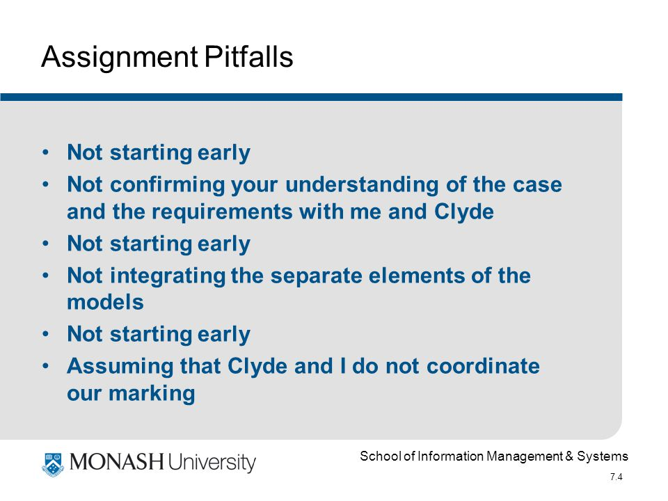 School of Information Management & Systems 7.25 Advanced normalisation A set of tables can be in 3NF and still not be fully normalised Further stages of normalisation are BCNF, 4NF, 5 NF and Domain key NF Refer to Date, C.J.