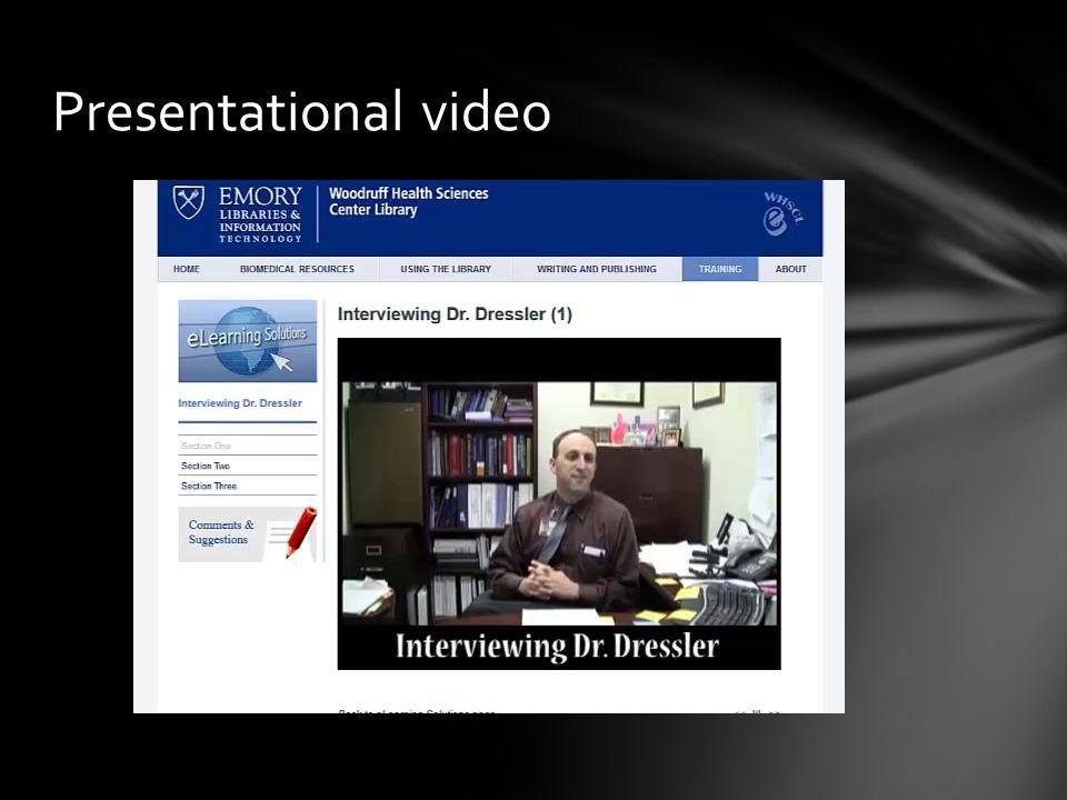 Presentational video