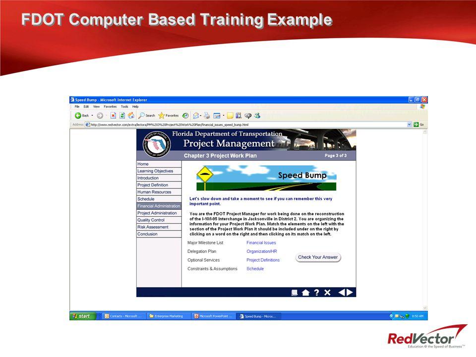 FDOT Computer Based Training Example