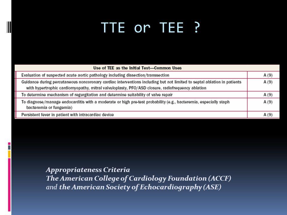 TTE or TEE .