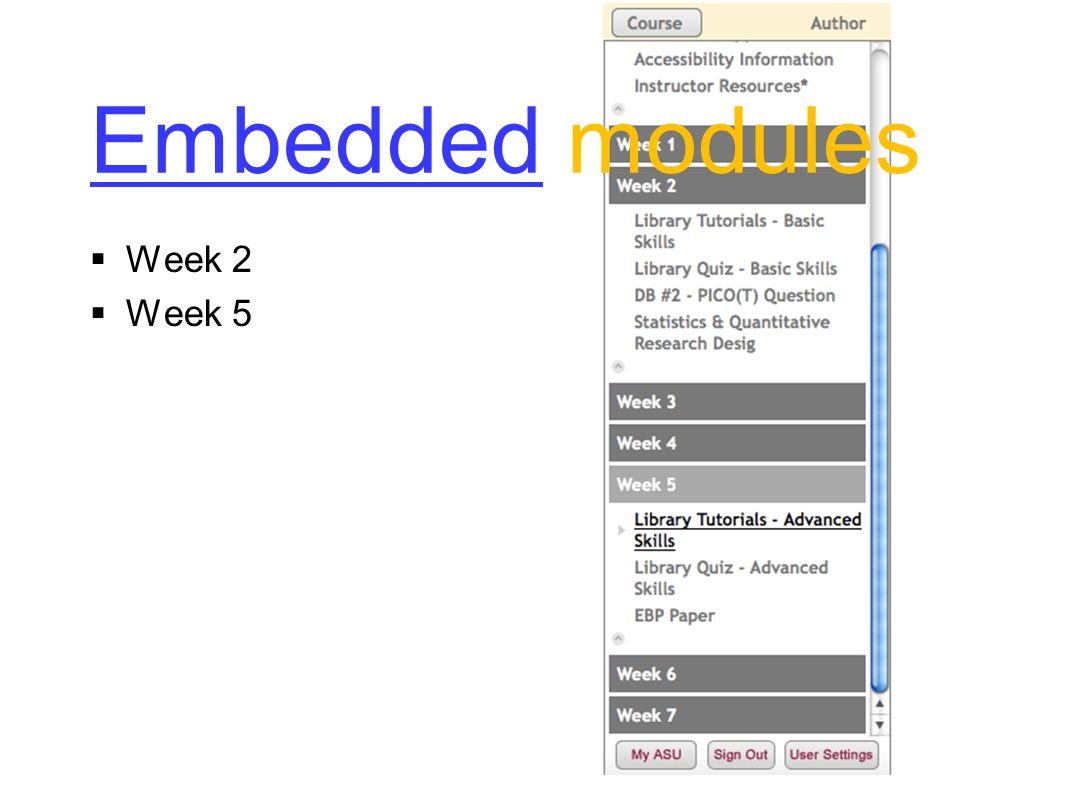 EmbeddedEmbedded modules  Week 2  Week 5