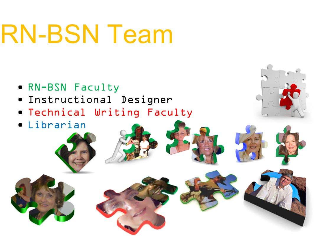 RN-BSN Team RN-BSN Faculty Instructional Designer Technical Writing Faculty Librarian