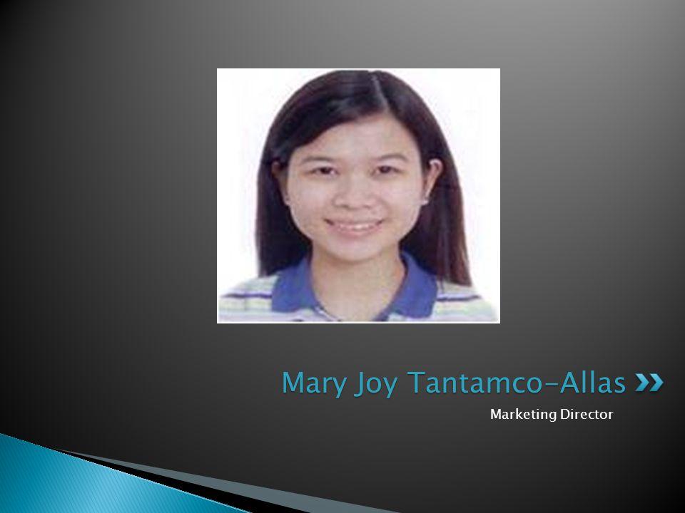 Marketing Director Mary Joy Tantamco-Allas