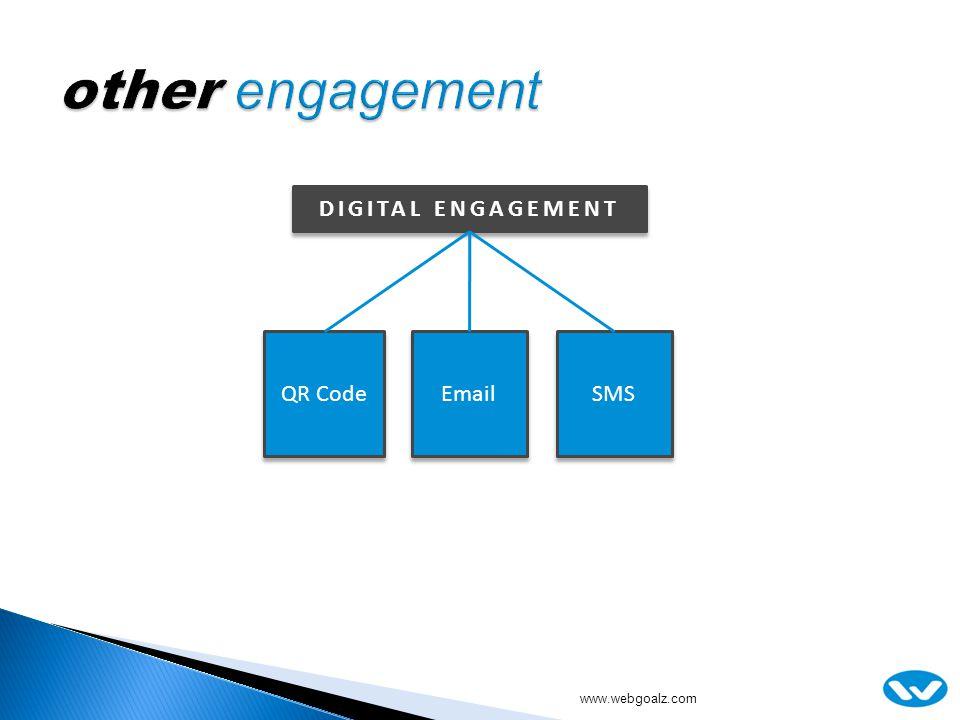 QR Code Email SMS DIGITAL ENGAGEMENT www.webgoalz.com