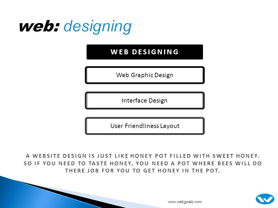 WEB DESIGNING Web Graphic DesignInterface DesignUser Friendliness Layout A WEBSITE DESIGN IS JUST LIKE HONEY POT FILLED WITH SWEET HONEY.