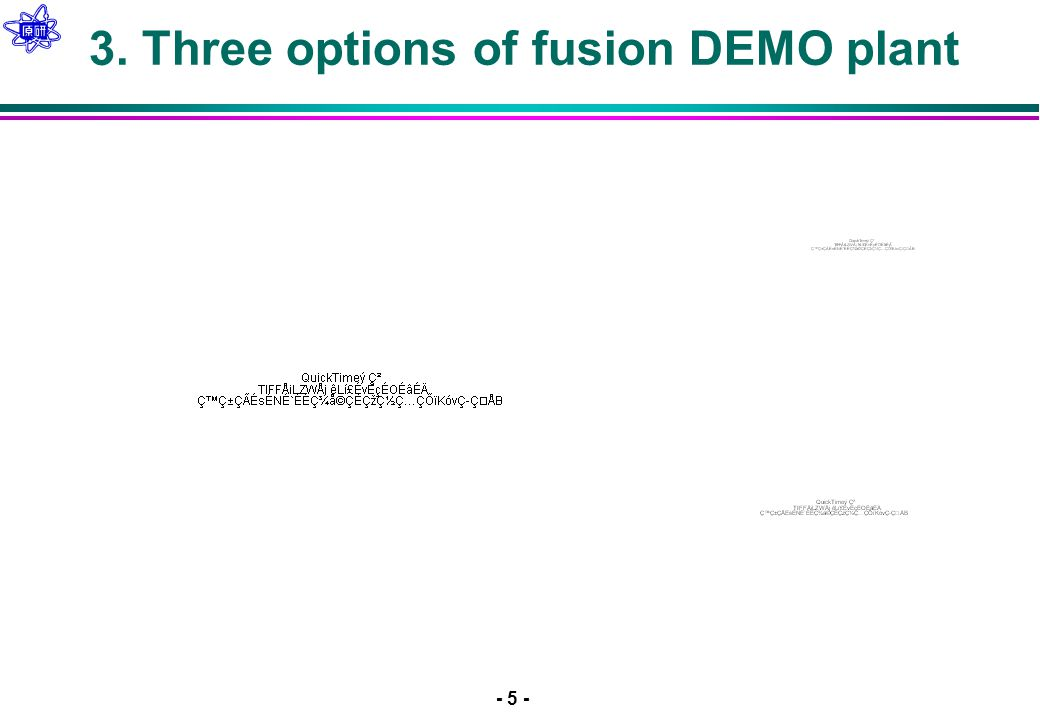 - 5 - 3. Three options of fusion DEMO plant