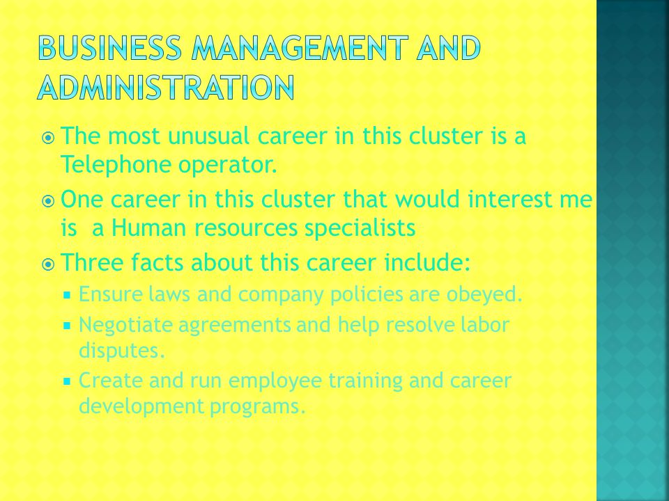 The most unusual career in this cluster is a Telephone operator.