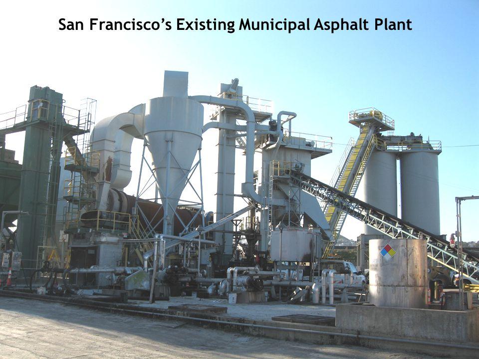 San Francisco's Existing Municipal Asphalt Plant