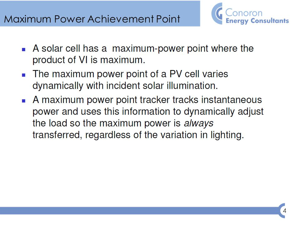 4 Maximum Power Achievement Point