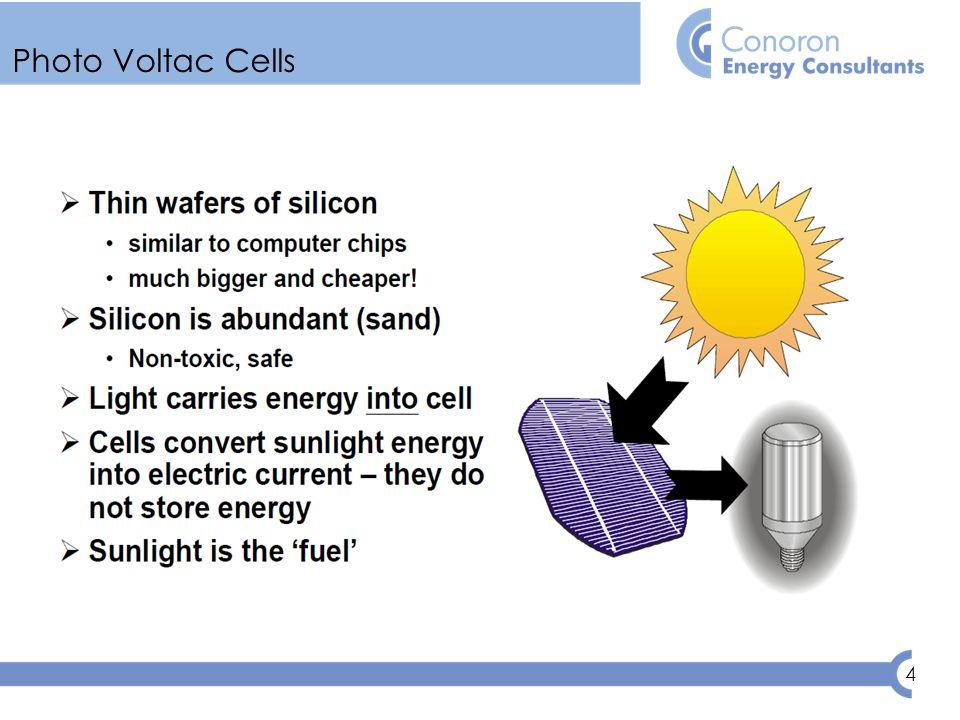 4 Photo Voltac Cells