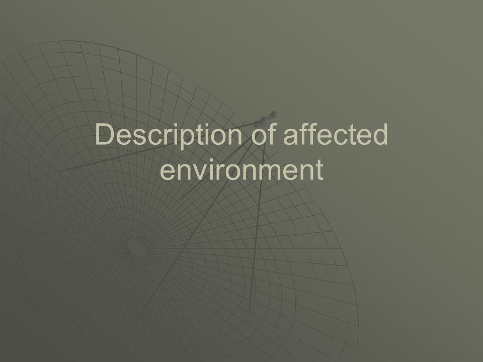 Description of affected environment