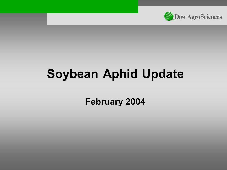 Soybean Aphid Update February 2004